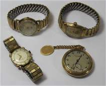 JEWELRY Mens Gold Watch Grouping