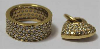 JEWELRY Pave Diamond and Gold Grouping