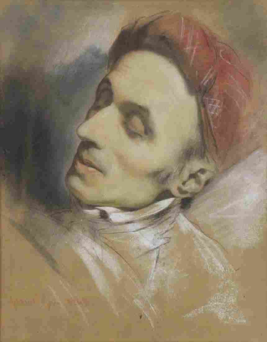 GIRAUD, Pierre. Pastel on Paper. Portrait of