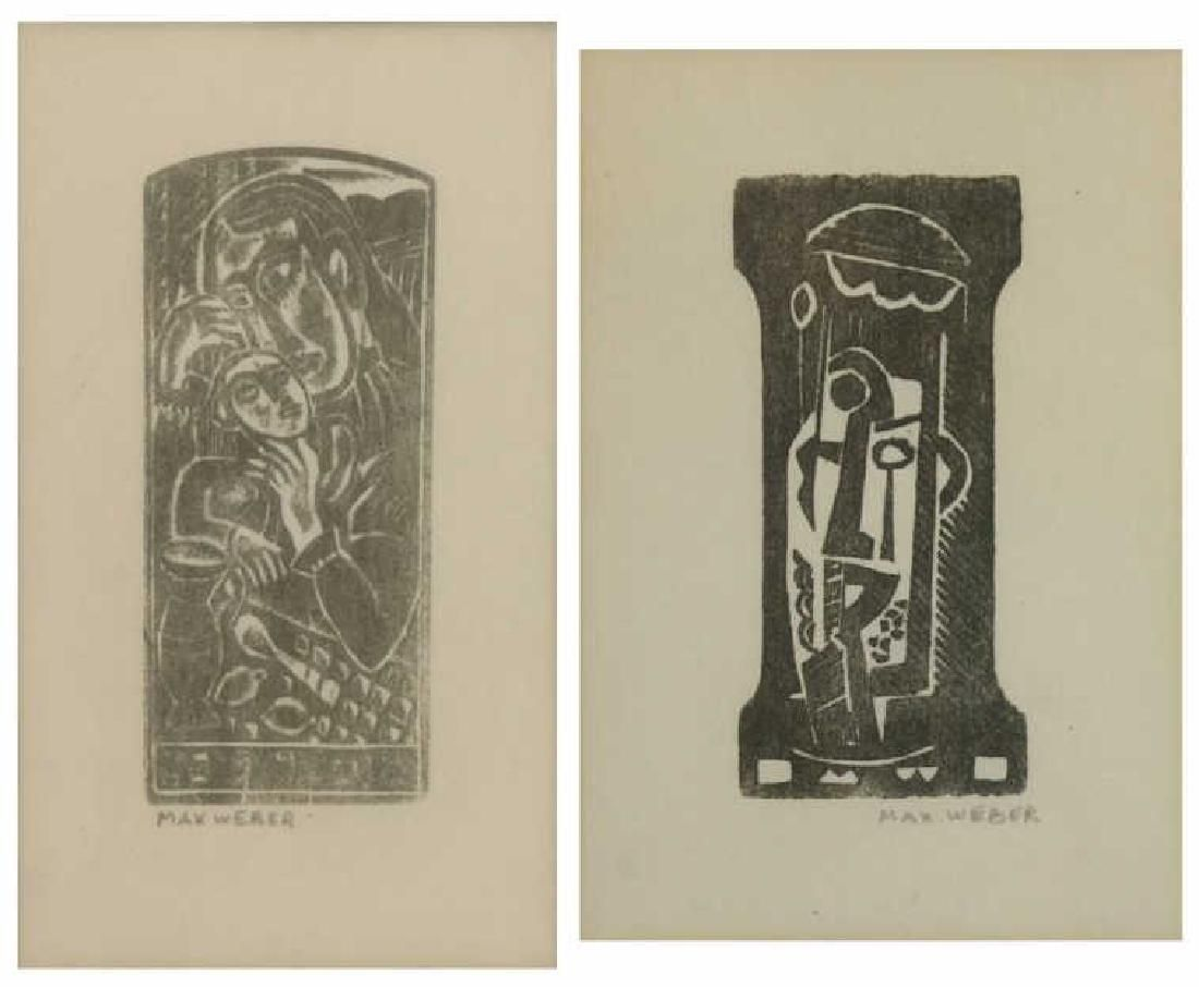 WEBER, Max. Two (2) Woodblock Prints.