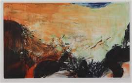 ZAO WOU-KI. Color Etching and Aquatint. Untitled