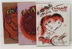 CHAGALL Marc Lithographe Volumes I II amp III
