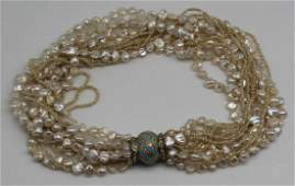 JEWELRY. Pearl, 18kt Gold, Enamel, and Diamond