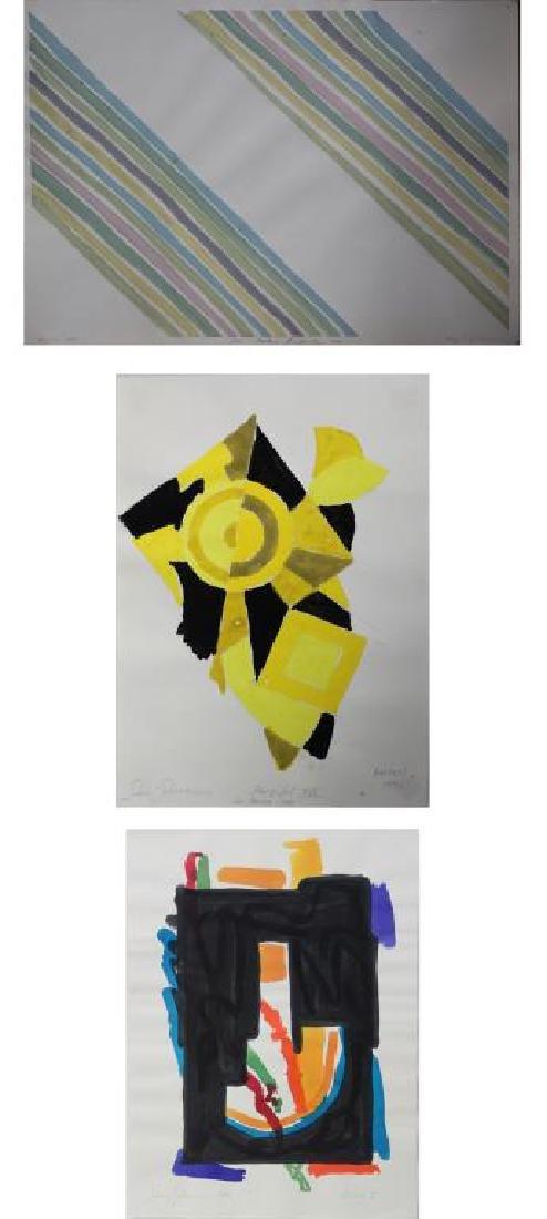LOT of Three Sidney Guberman Works on Paper.