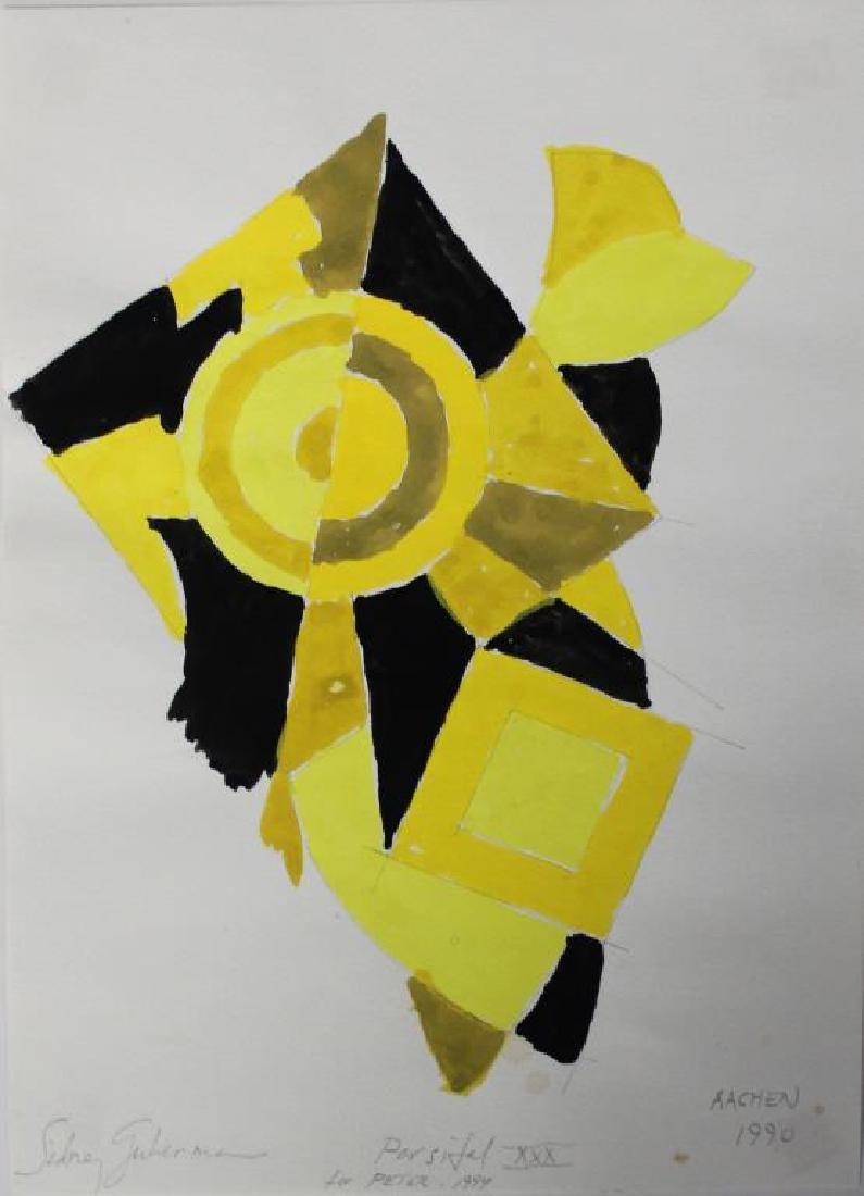 LOT of Three Sidney Guberman Works on Paper. - 9