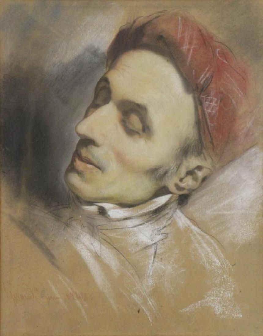GIRAUD, Pierre. Pastel on Paper. Portrait of