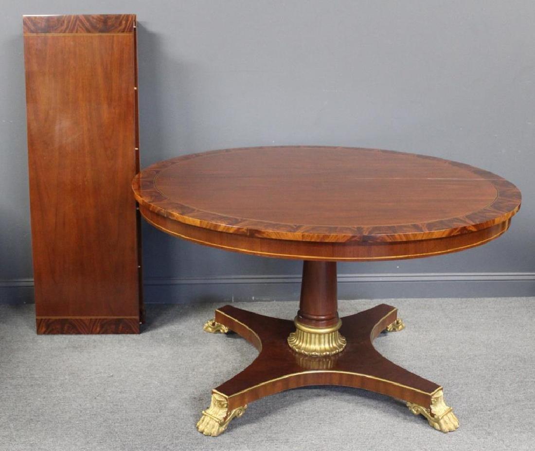 Kindel Banded Pedestal Table. Nick Lulguraj