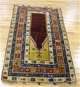 Antique and Finely Hand Woven Prayer Rug.