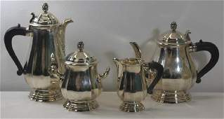 SILVER French Christofle 4 Piece 950 Silver Tea