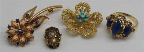 JEWELRY Assorted 18kt and 14kt Gold Grouping