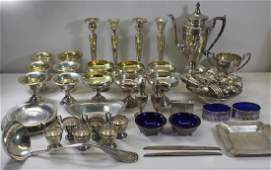 STERLING. Assorted Grouping of Silver Flatware and