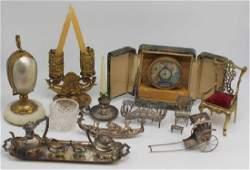 SILVER. Assorted Antique Decorative Accessories.