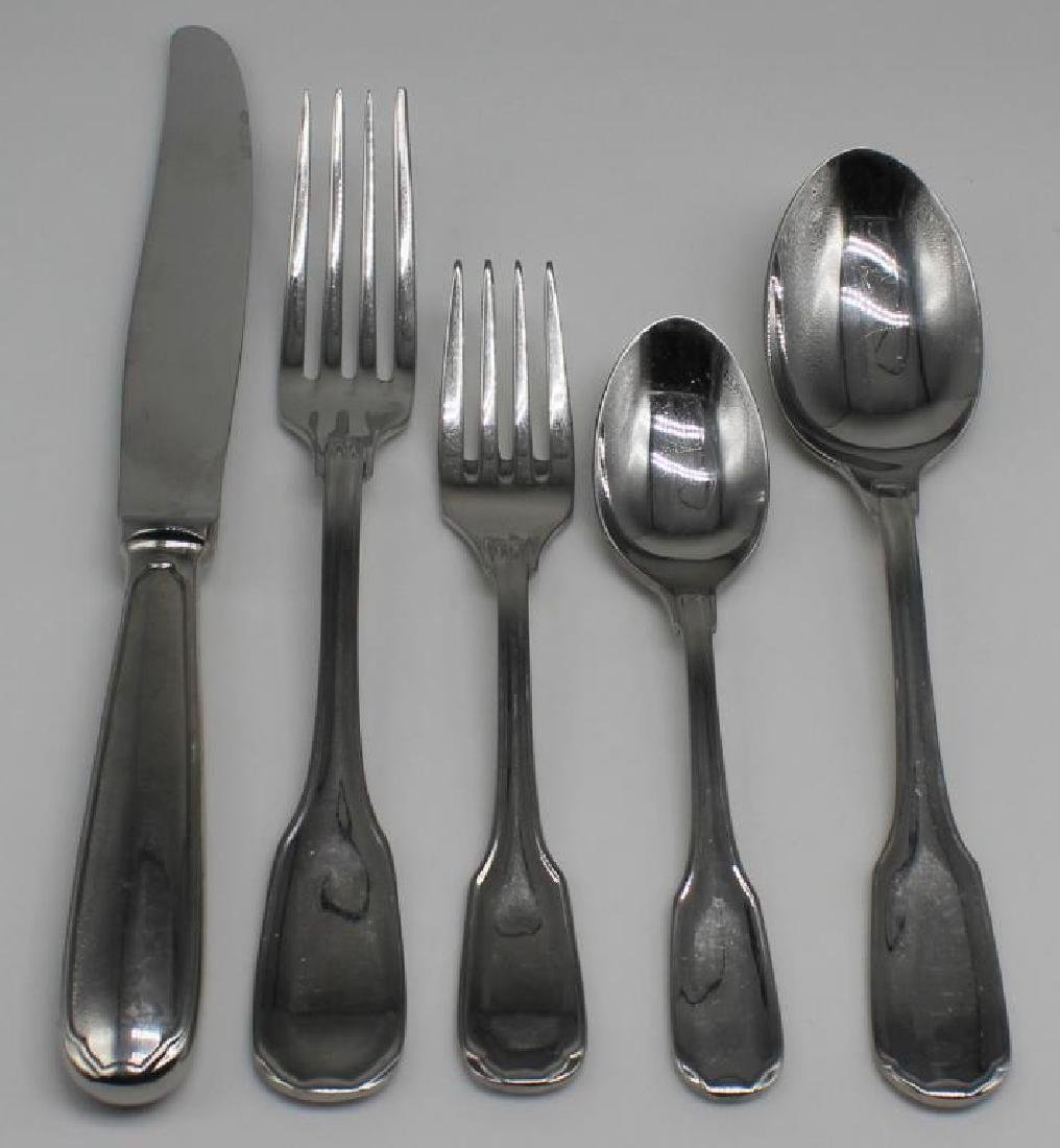 STAINLESS. 56 Pcs. Christofle Touraine Flatware.