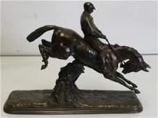 VALTON, Charles. Signed Bronze Sculpture of Horse
