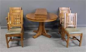 STICKLEY Audi Signed Arts and Crafts Style