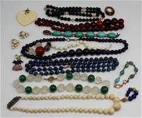 JEWELRY. Assorted Beaded Jewelry Grouping.