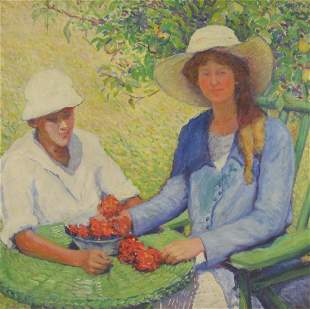 MOTTET, J. G. Oil on Canvas Laid on Board.