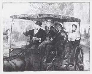 "BELLOWS, George. Lithograph. ""Sunday, 1897""."