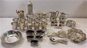 SILVER. Assorted Silver Hollow Ware.