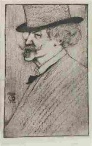 """HASKELL, Ernest. Etching. """"Whistler""""."""