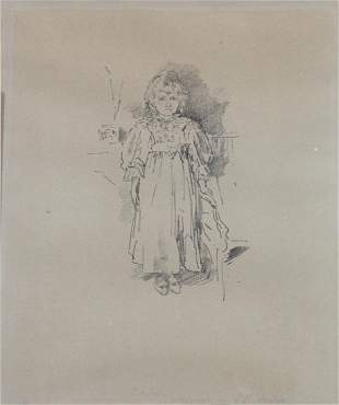 WHISTLER, James McNeil (After). Lithograph. Evelyn