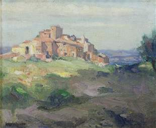 ROLSHOVEN, Julius. Oil on Canvas. Italian