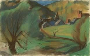 BENN, Ben. Pastel on Paper. Landscape.