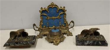 A. Marionnet Bronze Eagle Desk Items & More