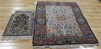 1 Antique & 1 Vintage Finely hand Woven Area Rug.