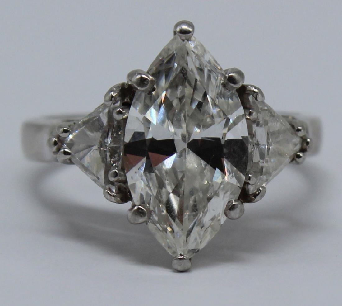 JEWELRY. GIA 3.04 ct Marquise Diamond, H, SI1