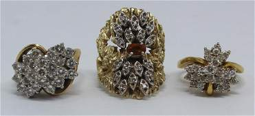 JEWELRY. Gold Ring Grouping Inc. Hammerman Bros.