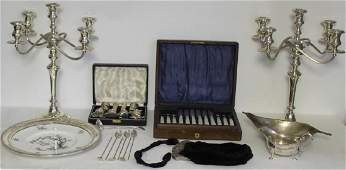 SILVER. Assorted Grouping of Silver Hollow Ware &