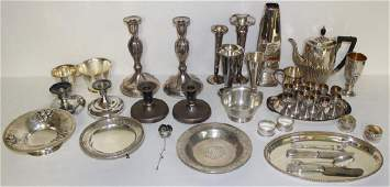SILVER Assorted Sterling and Silver Hollow Ware