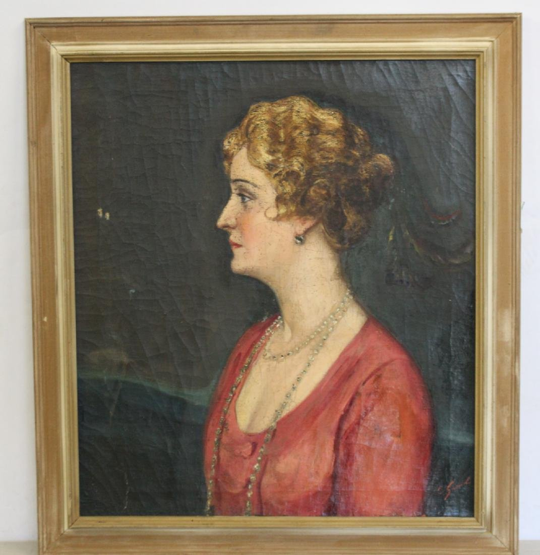 SUDNIK ? Signed Oil On Canvas Of A Lady. - 2