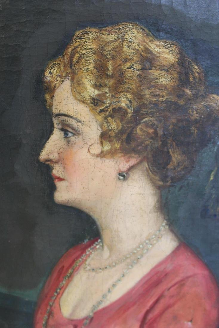 SUDNIK ? Signed Oil On Canvas Of A Lady. - 4