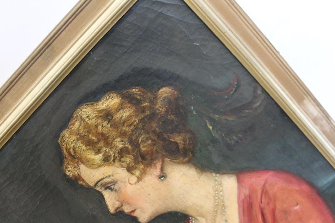 SUDNIK ? Signed Oil On Canvas Of A Lady. - 6