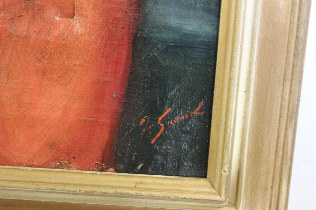 SUDNIK ? Signed Oil On Canvas Of A Lady. - 8