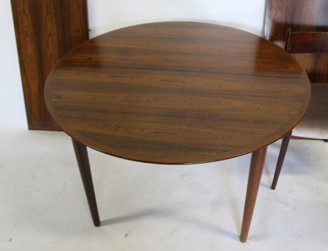 MIDCENTURY. Danish Modern Rosewood Table and - 2