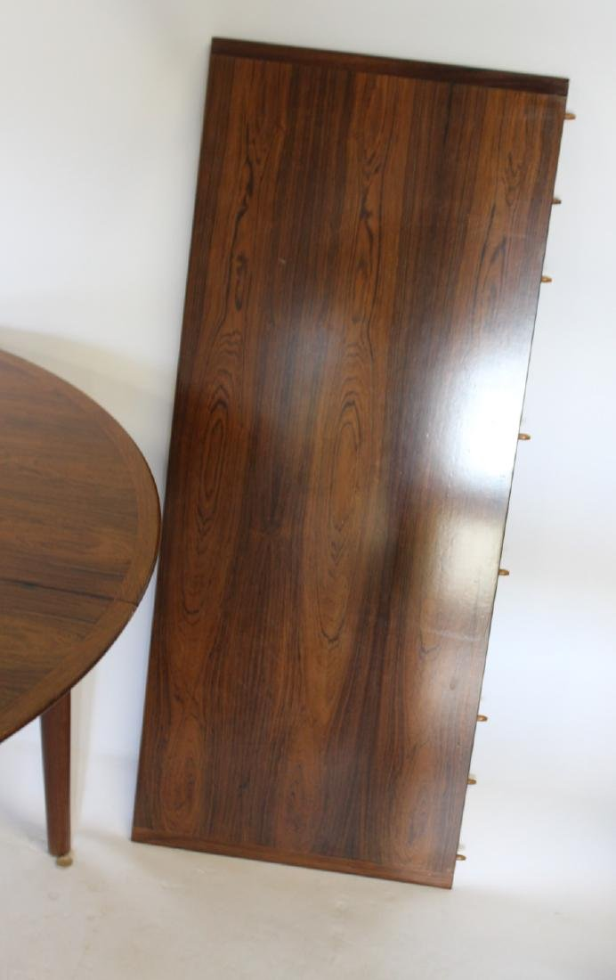 MIDCENTURY. Danish Modern Rosewood Table and - 4