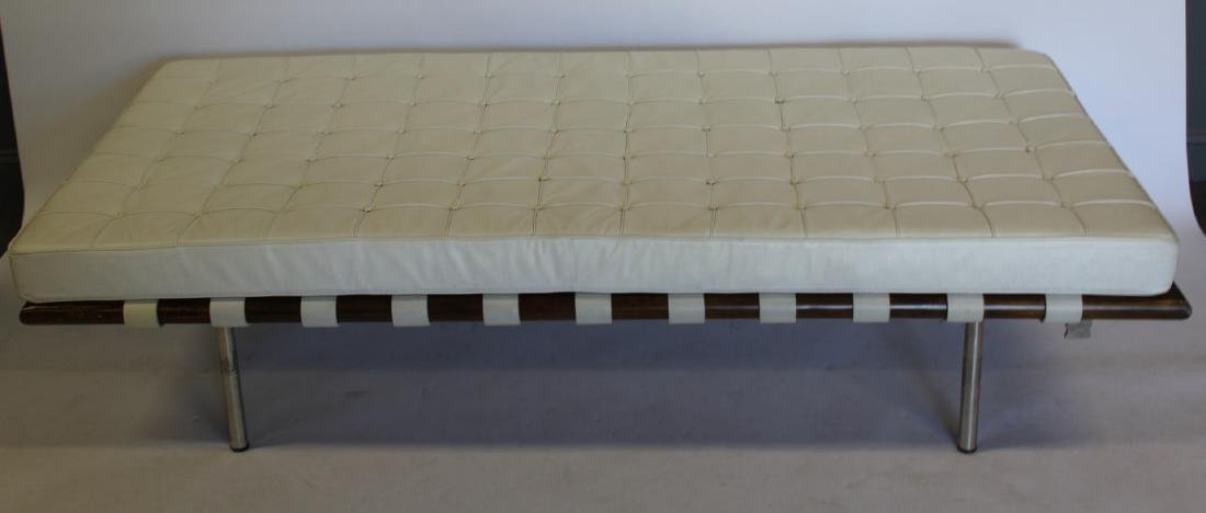 MIDCENTURY. Style Leather Cushioned Day Bed.