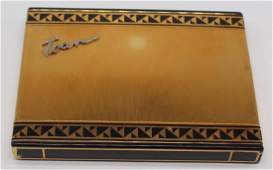 GOLD. Cartier 18kt Gold, Enamel and Diamond