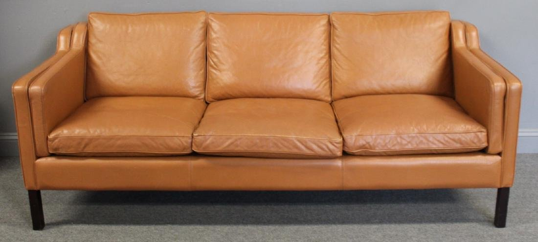 Stouby  Danish Modern Leather Sofa