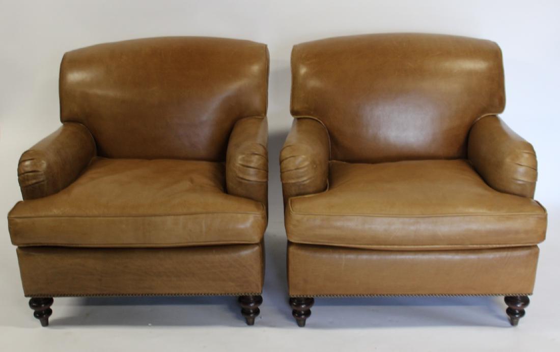 Pair Of Mason Art Custom Cowhide Club Chairs.