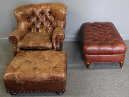 Fantastic Ralph Lauren Leather Club Chair And Ottoman Together Alphanode Cool Chair Designs And Ideas Alphanodeonline
