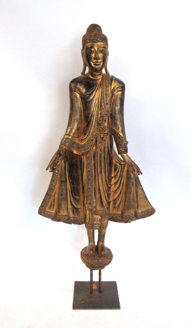 19th Century Life Size Mandalay Buddha.