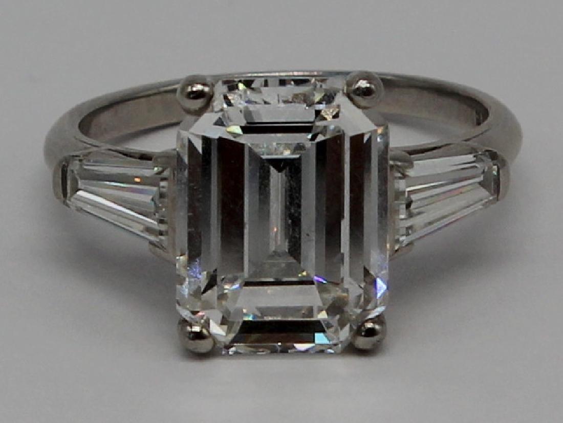 JEWELRY. GIA 5.25ct G VS1 Emerald Cut Diamond and