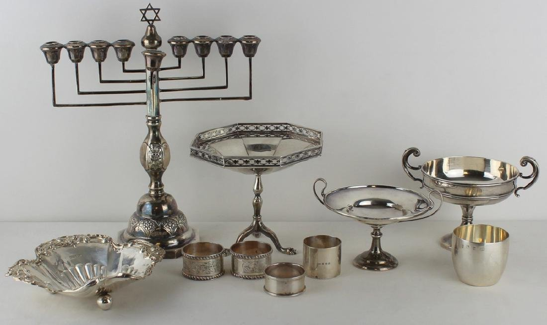 SILVER. Assorted English Silver Hollow Ware.