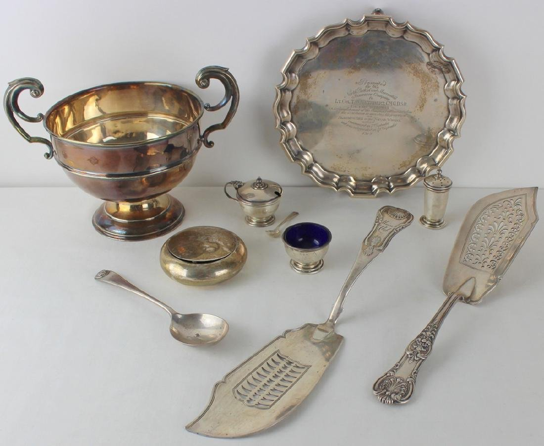 SILVER. Assorted Grouping of English Silver.