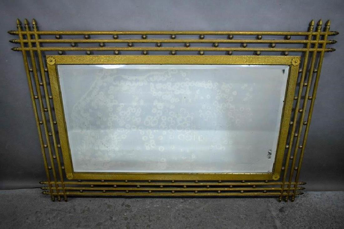 Large Art Deco Gilt Metal Mirror.