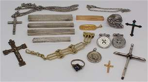 JEWELRY Assorted Gold and Silver Including Bars